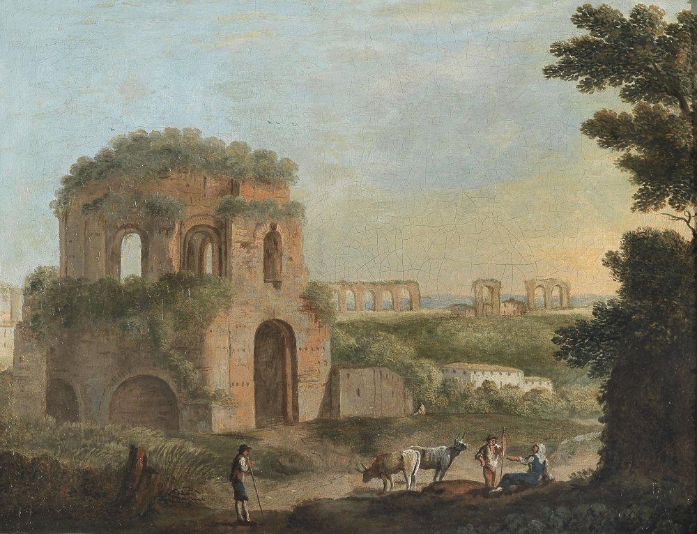 Tempio di Minerva Medica.5 in un dipinto dei primi anni del 1700.jpg