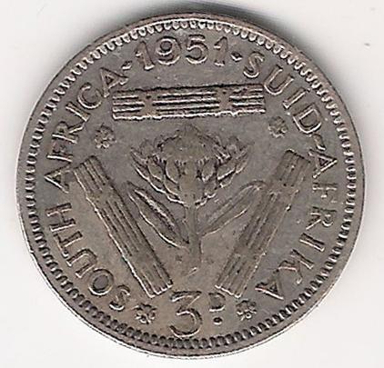 Sud Africa 3 Pence 1951 A.jpg