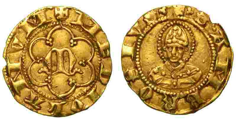 Mezzo ambrosino d'oro. di kucchino e Giovanni Visconti.png