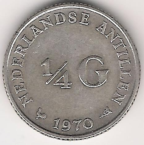 Antille Olandesi ¼ Gulden 1970 A.jpg