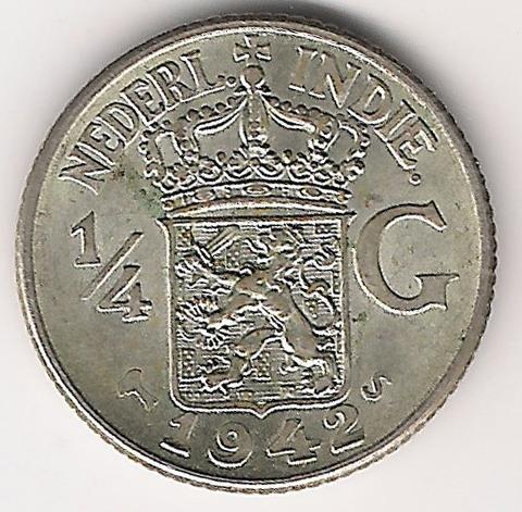 Indie Orientali Olandesi ¼ Gulden 1942 A.jpg