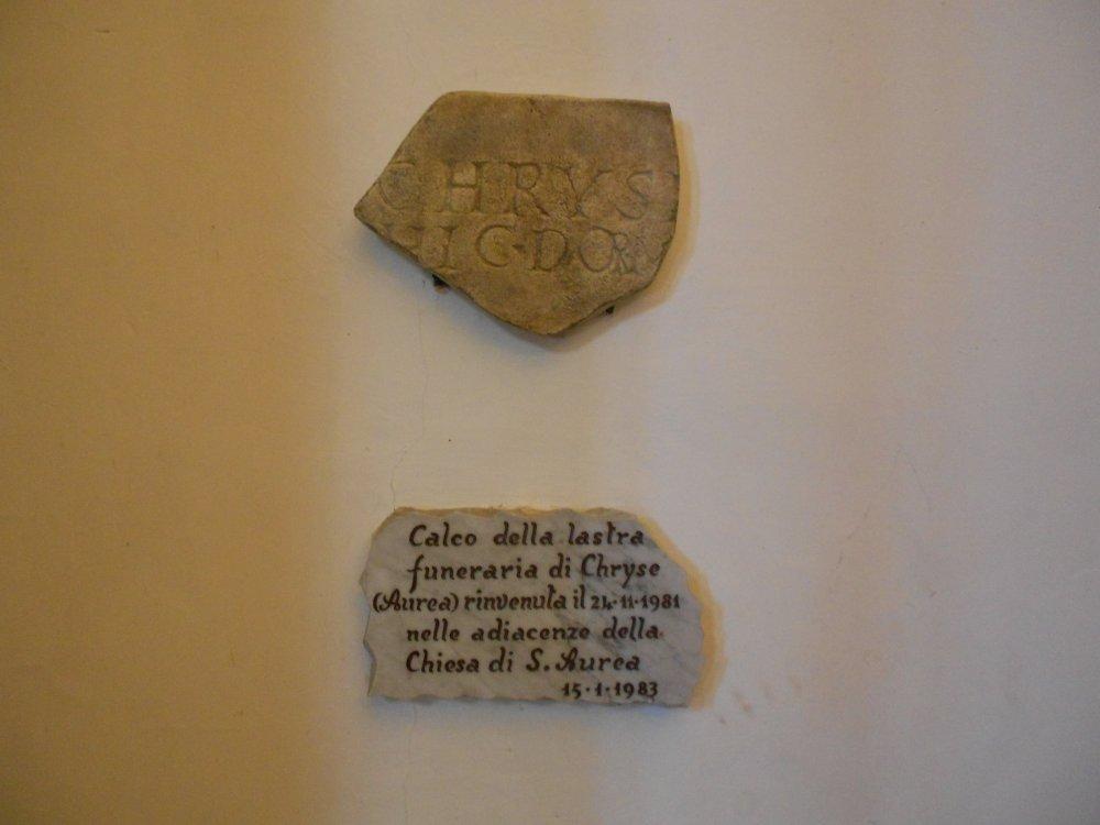 Iscrizione antica di  Aurea.JPG