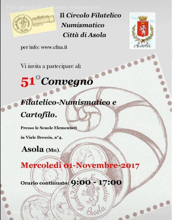 ebe41bd1f8 Evento commerciale] Convegno Numismatico a Asola (MN) 1 Novembre ...