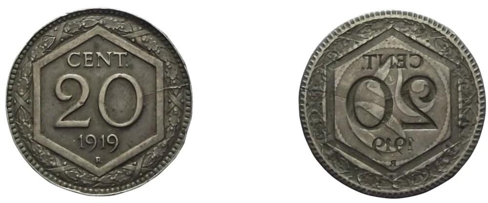 20 CENTESIMI 1919 RIBATTUTO E BROCKAGE SUL 1894 KB -1-1.jpg