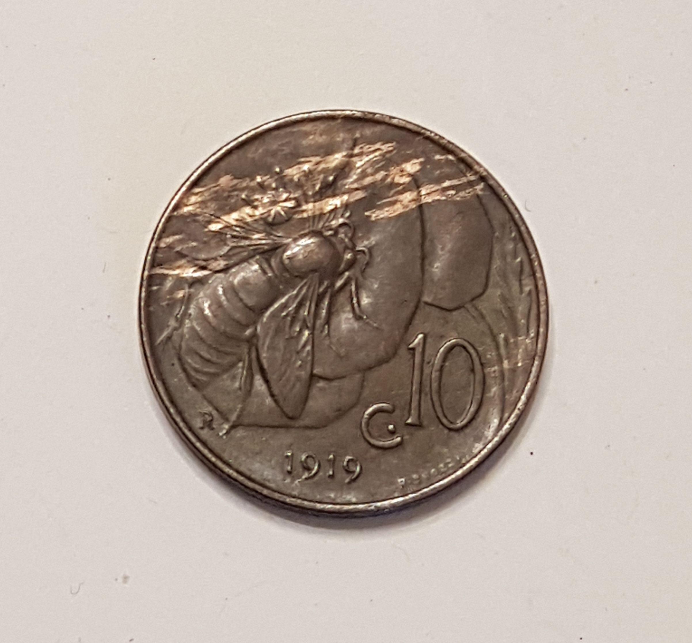 618c19c30a 10 centesimi 1919 ape - Regno d'Italia: identificazioni, valutazioni ...