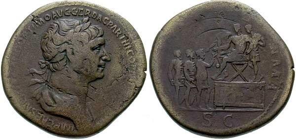 Traiano , RIC666 , Sesterzio del 116-117.jpg