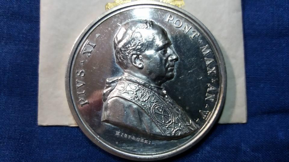 Pio XI, 1926 , Ag 986 1000 , Anno V.jpg