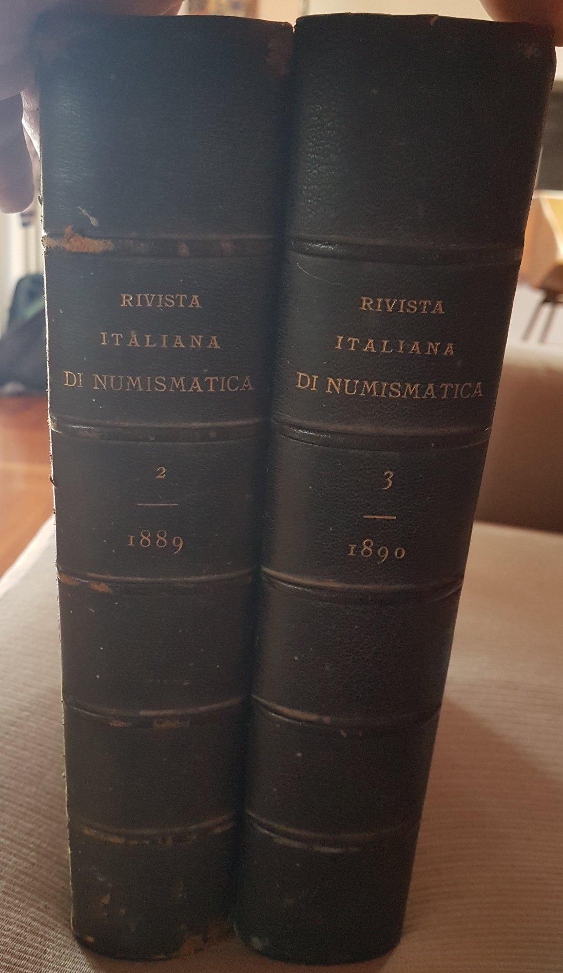 Rivista Italiana Numismatica (RIN) 1889 - 1890