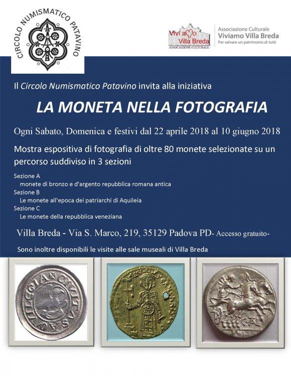 2018 aprile 22 Mostra fotografica numismatica dal titolo.jpg