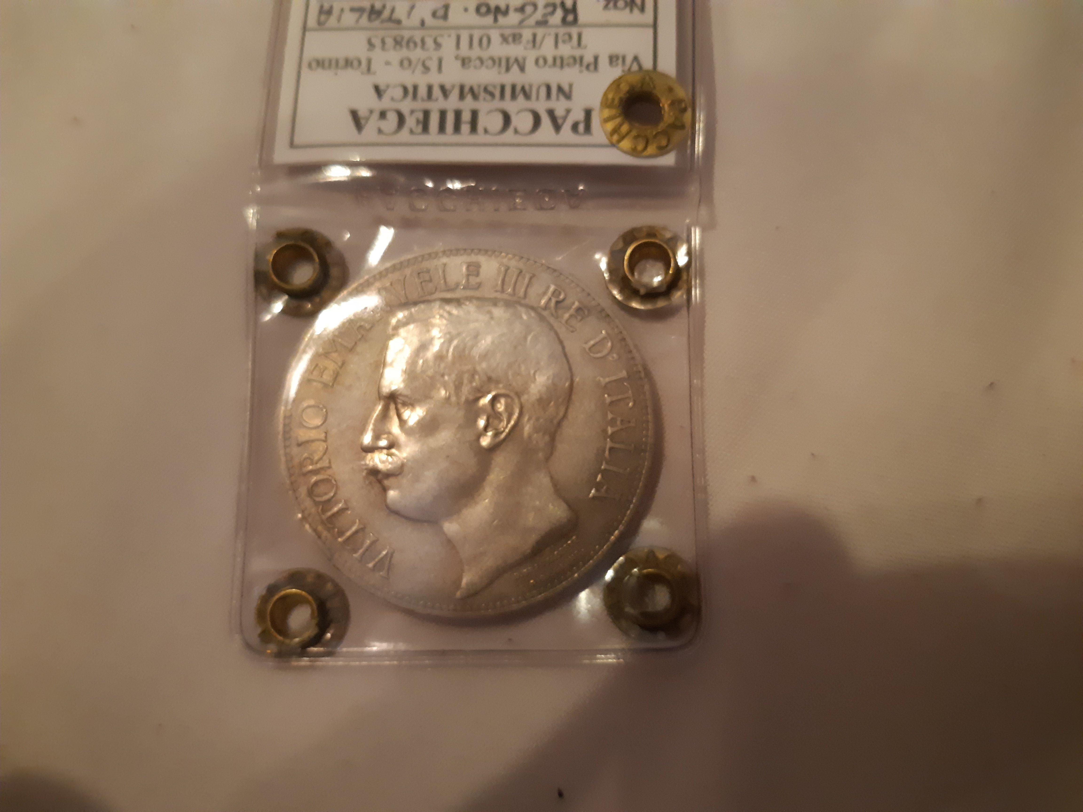 5 lire 1911 periziata nip qspl
