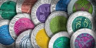 Austria 25 Euro silver niobium - collezione completa