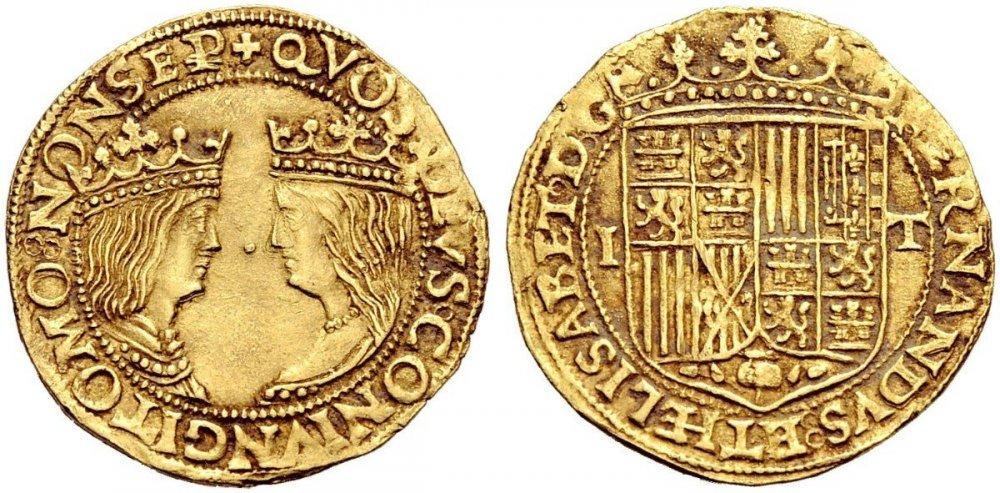 Ducato Napoli Ferdinando D'Aragona ed Isabella di Castiglia NAC 89 lotto 752.jpg