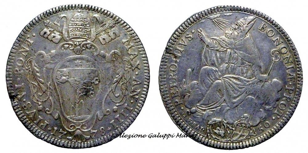 Mezzo Scudo Bologna 1778.JPG
