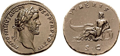 Antonino Pio , Tiberis , RIC643.jpg