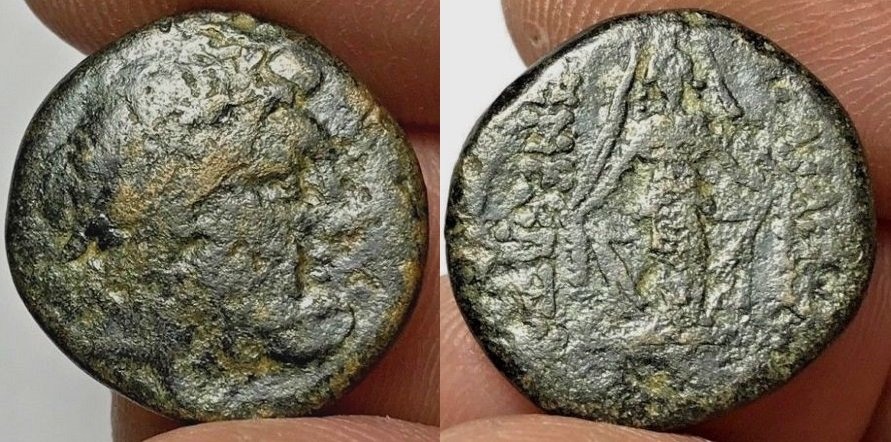 GREEK BRONZE COIN ISLANDS UNCERTAIN 7.1gr 21.1mm.jpg