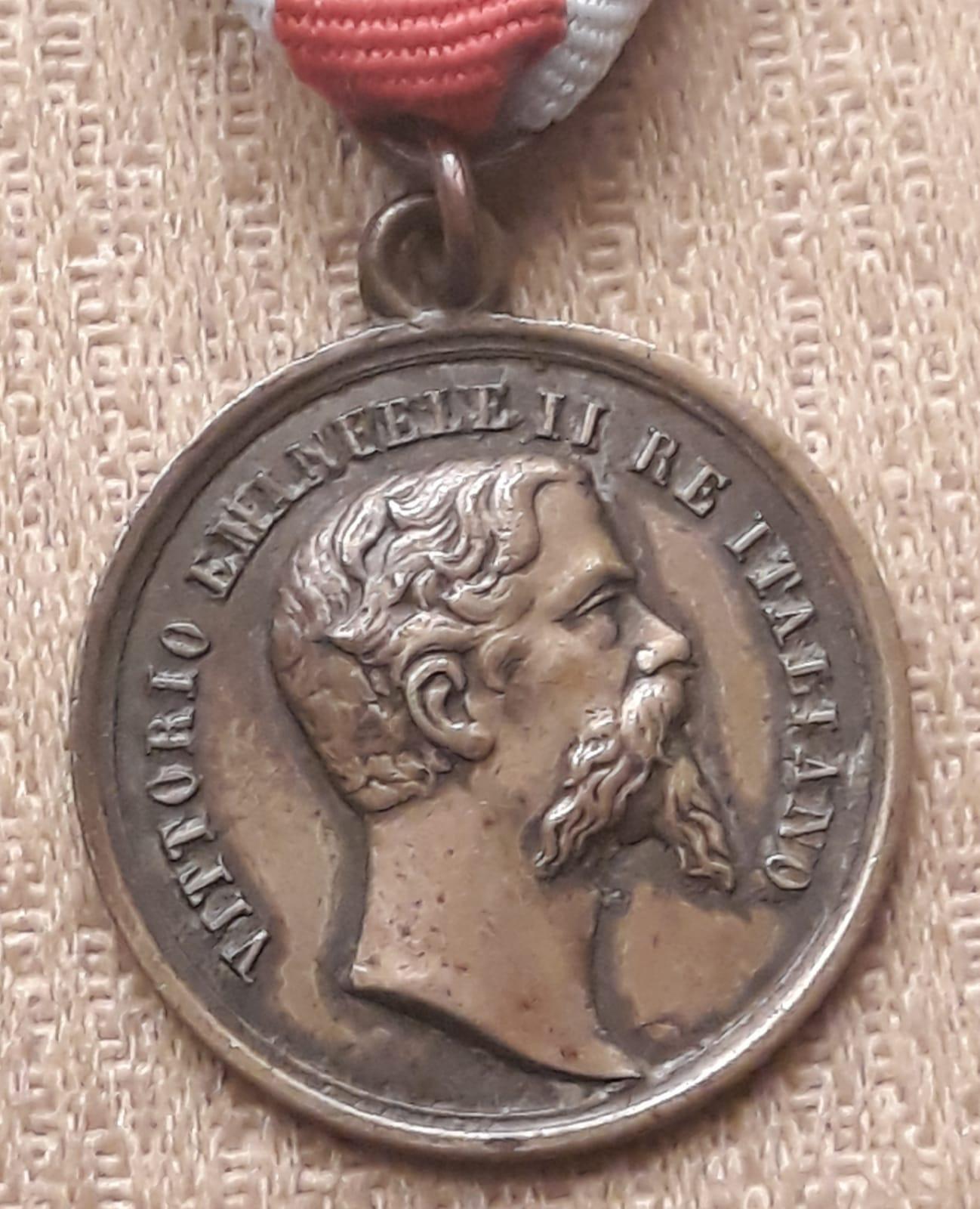 Medaglia Vittorio Emanuele II 1859.