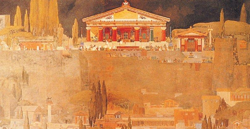 Probabile aspetto del primitivo Tempio di Giove Capitolino.jpg
