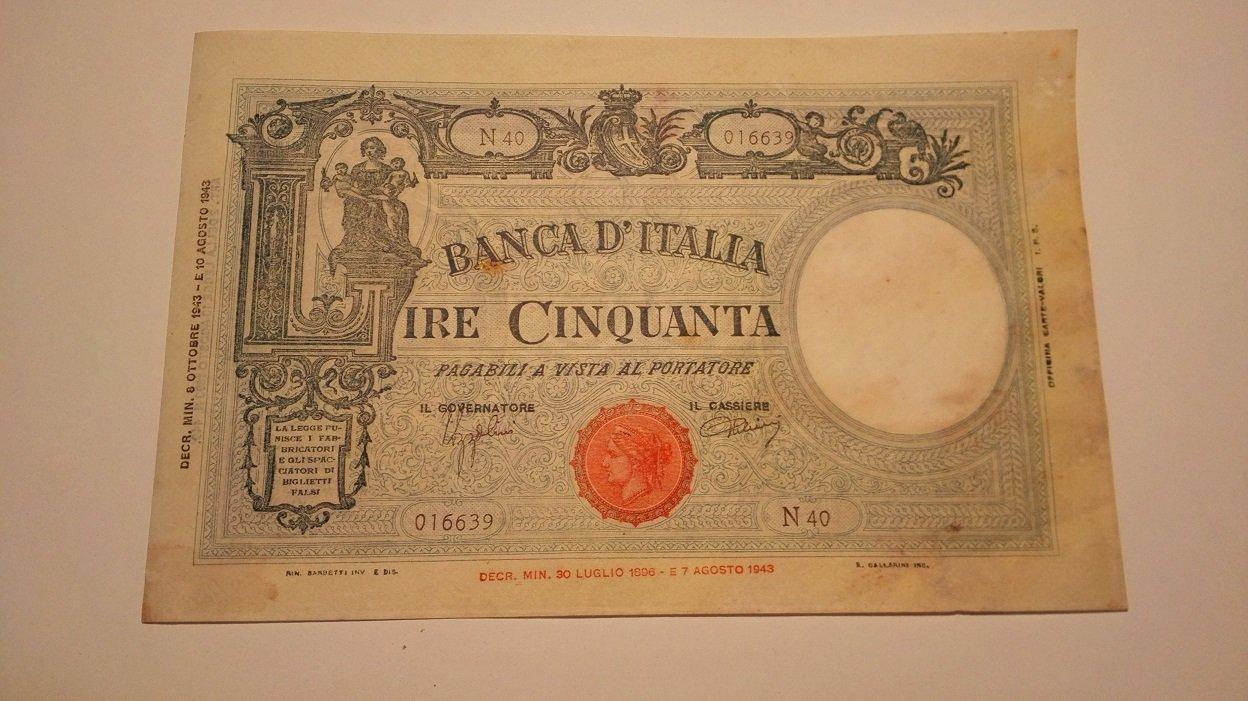 50 Lire 8 Ottobre 1943