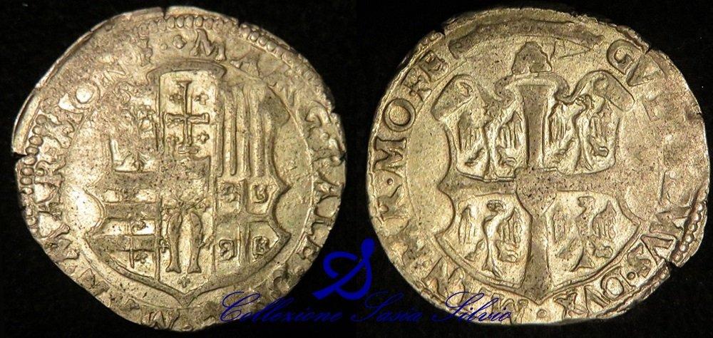 Marchesato di Monferrato - Guglielmo Gonzaga (Reggenza della madre Margherita) 1550-1566 - Zecca di Casale - Argento - Sig. Flavio Bricco - PA 100,00.jpg