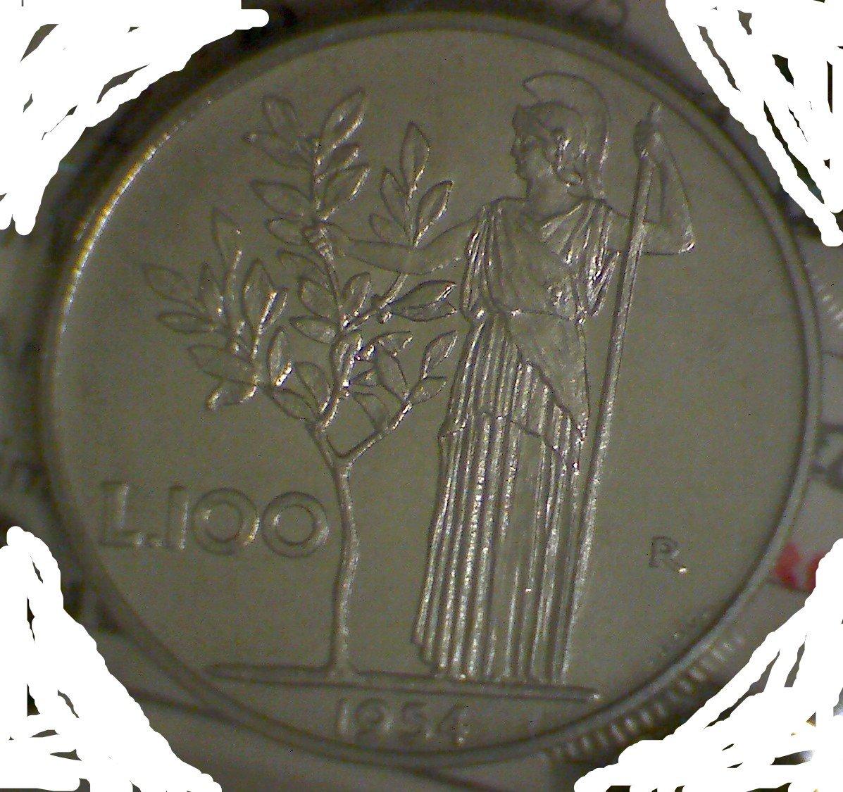 100 lire 1954 prove tecn.