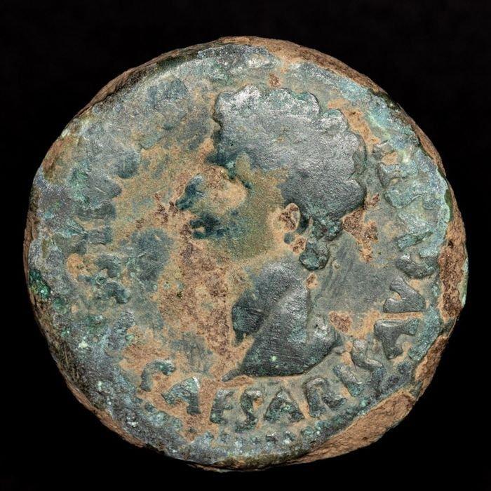 Dupondius - Augusto (27 a.C. - 14 d.C.) fronte.jpg