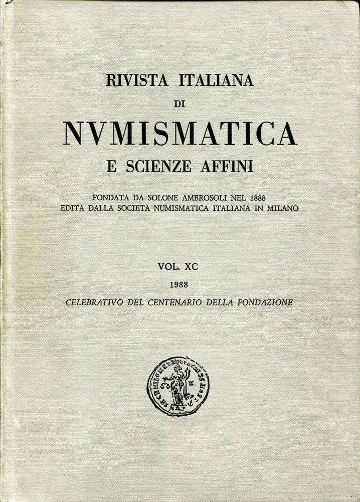 Rivista Italiana di Numismatica 1988