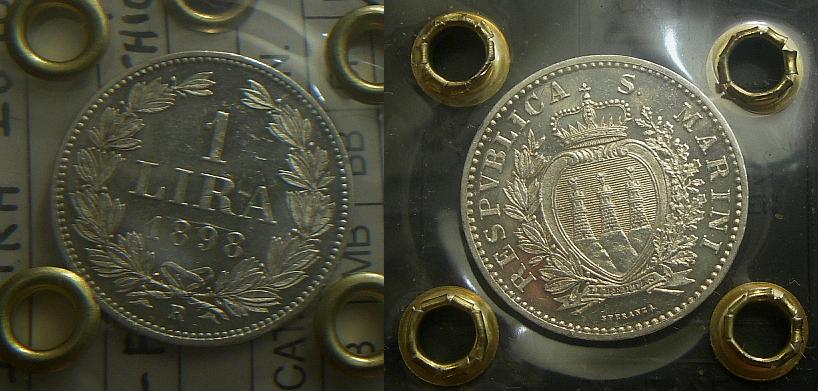 San Marino V.M.: 1 Lira 1898 qFdc