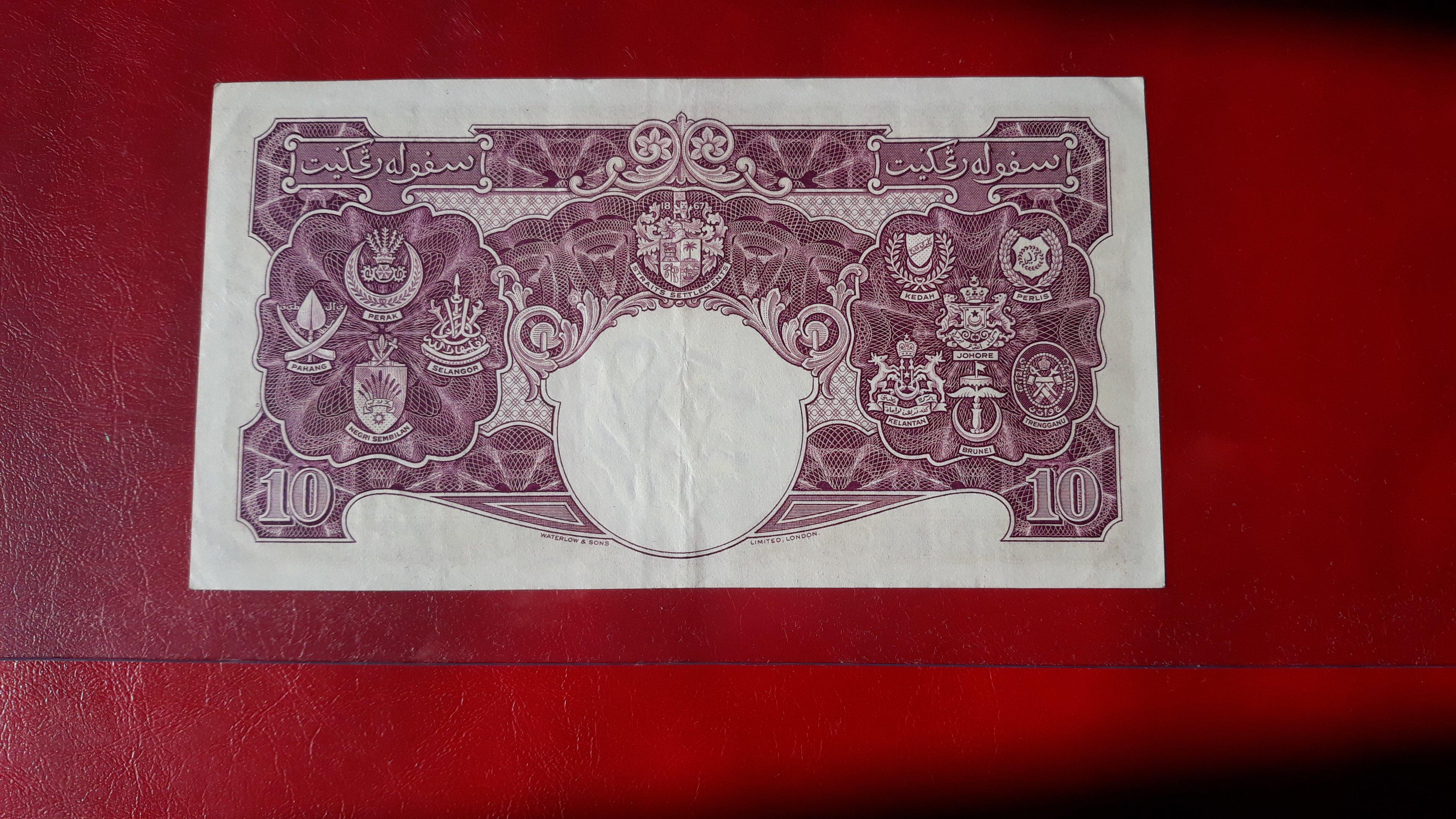 10 dollari malesia 1940