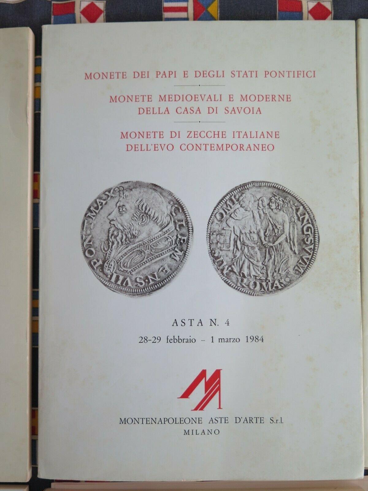 ASTA MONTENAPOLEONE n.4 - MONETE E MEDAGLIE DEI PAPI