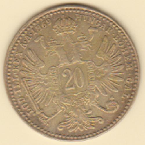 20 kruzeur 1869 Austria.PNG