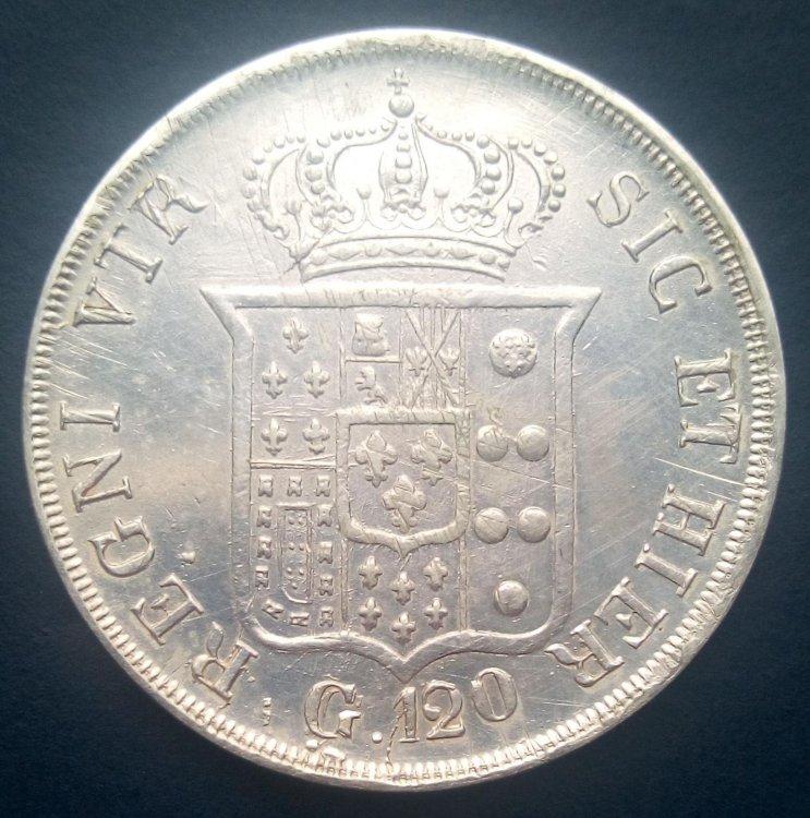 Ferdinando II di Borbone - Piastra 1834 senza punti b.jpg