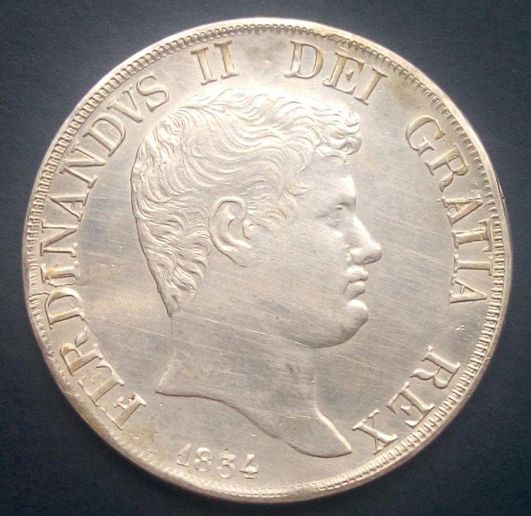 Ferdinando II di Borbone - Piastra 1834 senza punti a.jpg