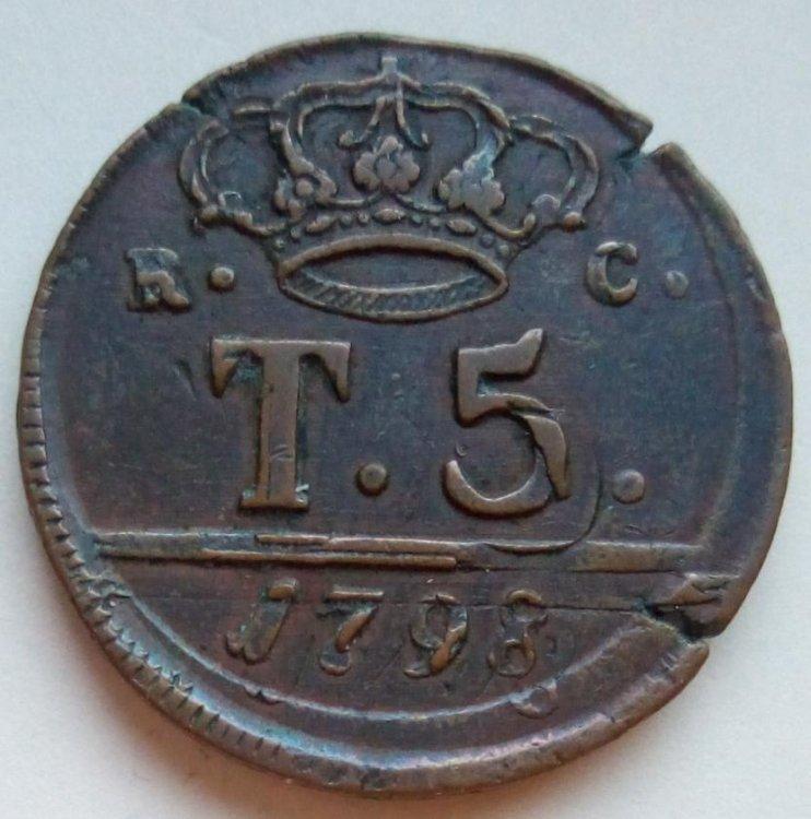 Ferdinando IV di Borbone - 5 Tornesi 1798 30 mm 1b.jpg