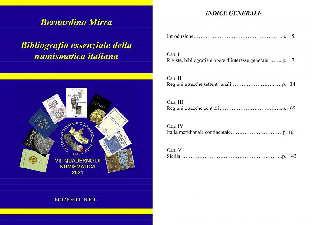 copertina ed indice Bibliografia essenziale della numismatica italiana.jpg