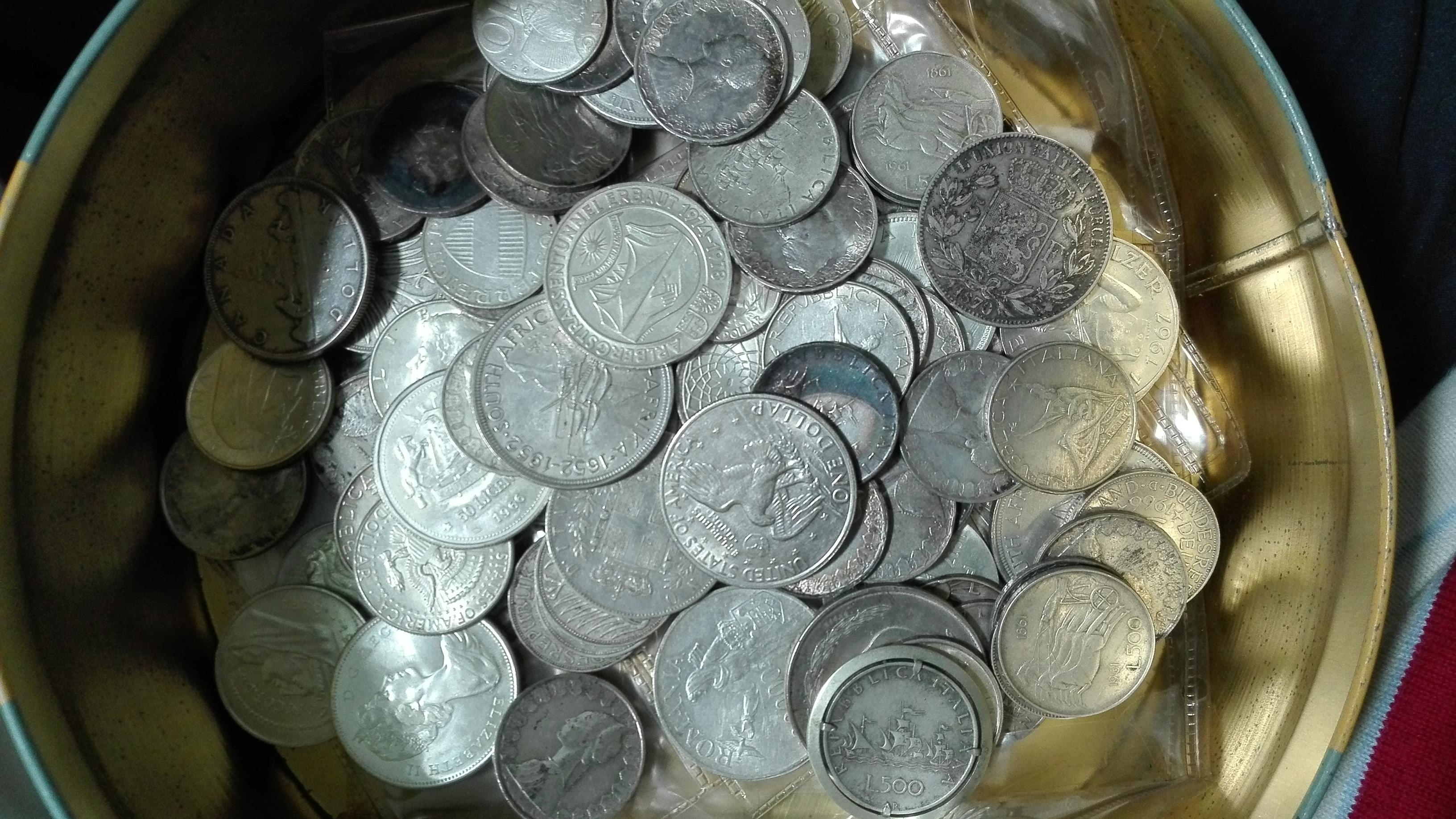 Cedo grande lotto argento 1,36 kg monete mondiali