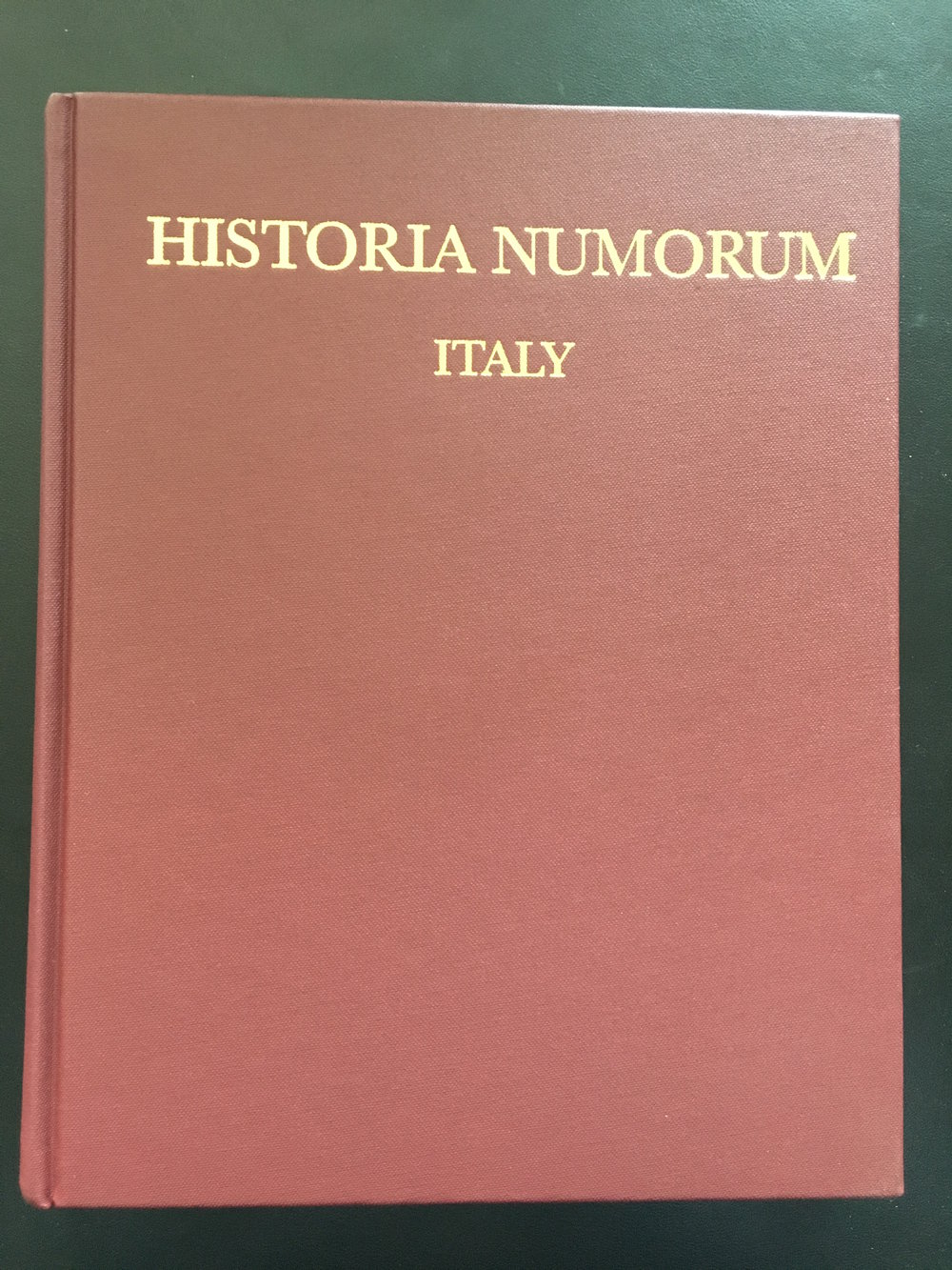 Historia Numorum Italy