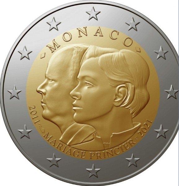 SCAMBIO 2 EURO MONACO 2021 CON 2 EURO MONACO 2020
