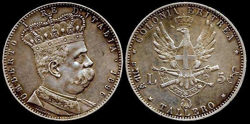 Colonia d'Eritrea - Umberto I - Tallero 1896 R.