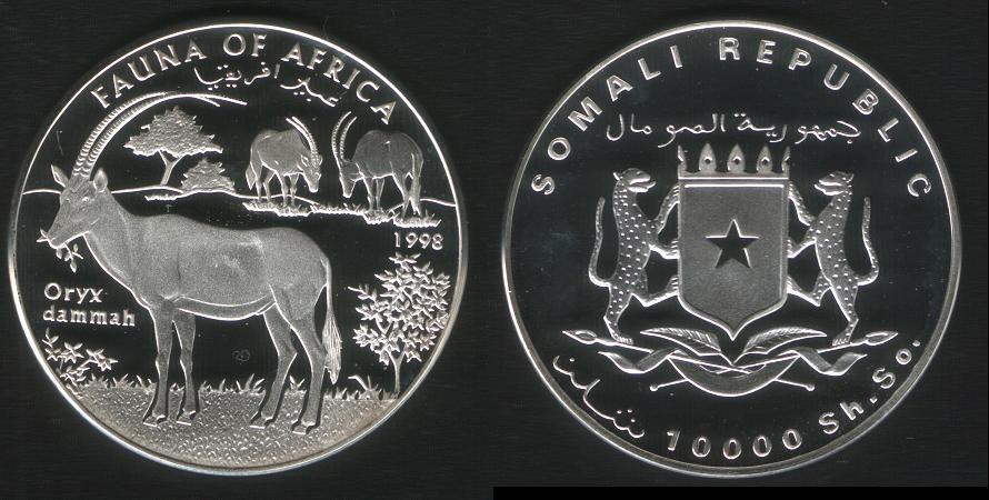 10000 Shillings - Oryx