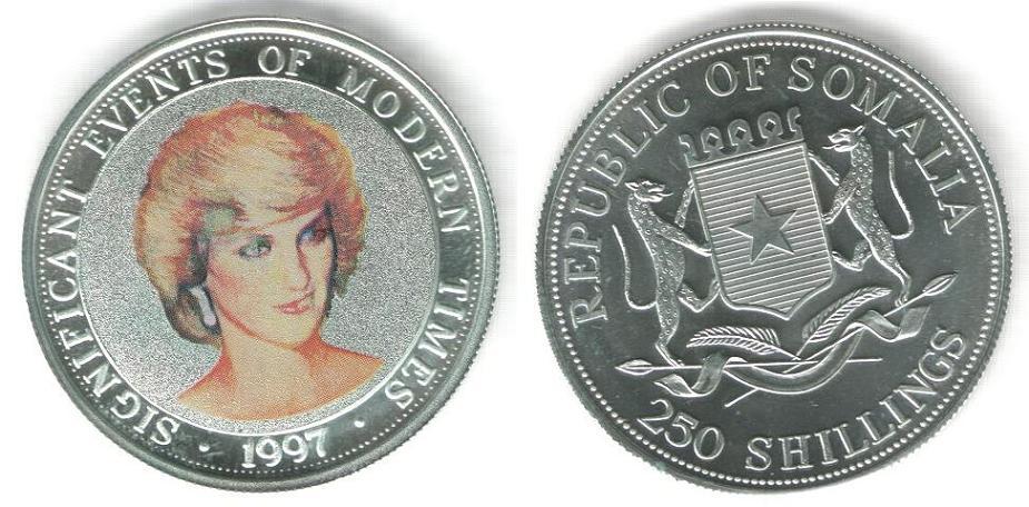 250 Shillings - Principessa Diana