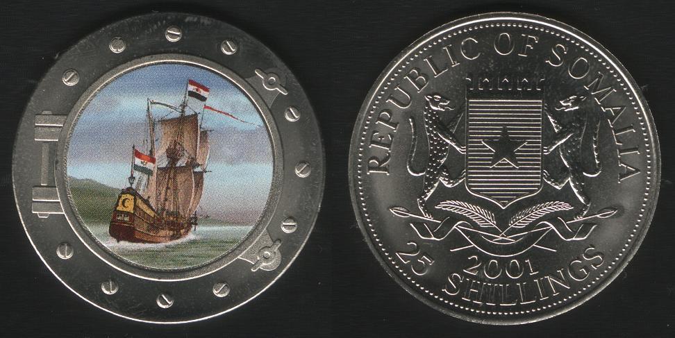 25 Shillings - 2001 - Half Moon