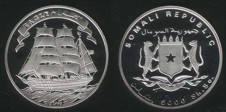 5000 Shillings - 1998 - Eagle