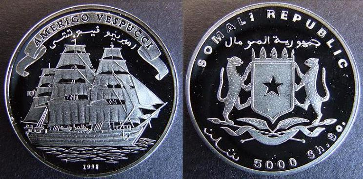 5000 Shillings - 1998 - Amerigo Vespucci