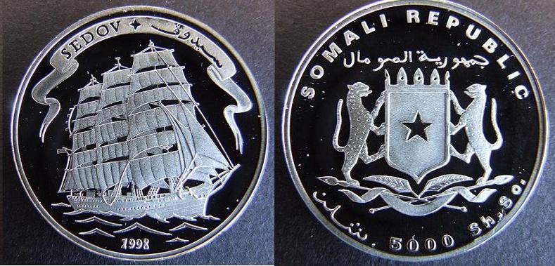 5000 Shillings - 1998 - Sedov