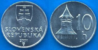 Repubblica Slovacca 10 Halierov 1993-....