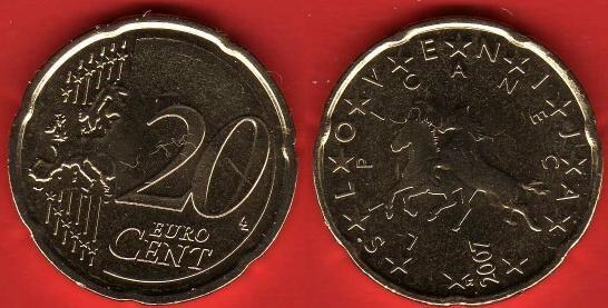 Slovenia 20 cent (2007 - ....)