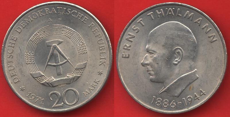 20 marchi DDR 1971