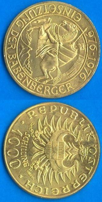 1000 scellini Austria 1976