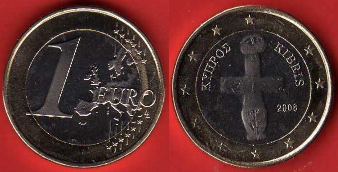 Cipro 1 Euro 2008 - ....