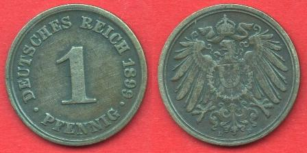 1 Pfennig Impero Tedesco (1890 - 1916)